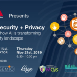 AL, Cybersecurity + Privacy event flyer